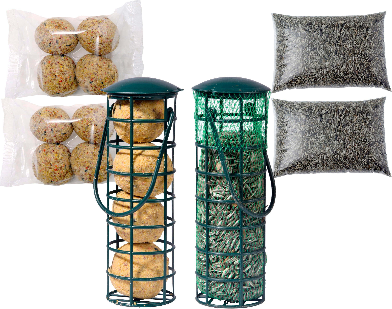 DOBAR Set: Futterspender »Tray«, 2 Stk. gefüllt, inkl. 4 Nachfüllpacks