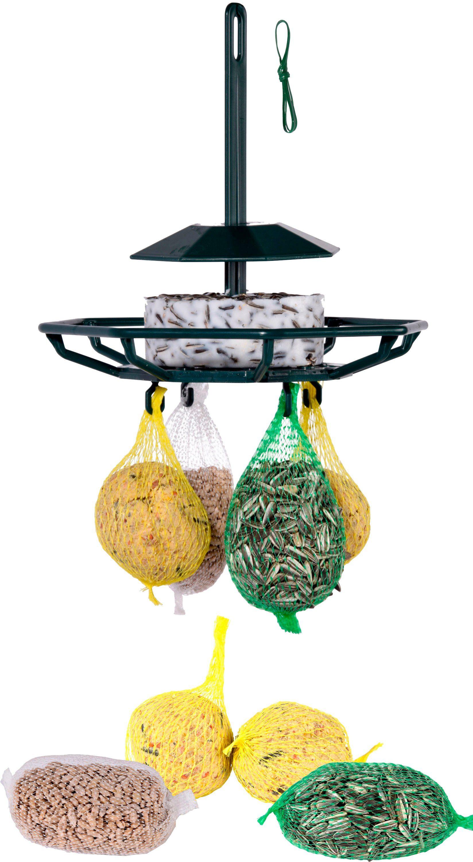 DOBAR Set: Futterspender »Karussell«, inkl. 4 Vogelfutter Spezialitäten