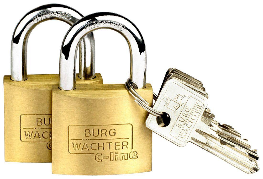BURG WÄCHTER Vorhangschloss »Duo 222 40 SB«, Vorhangschloss-Set