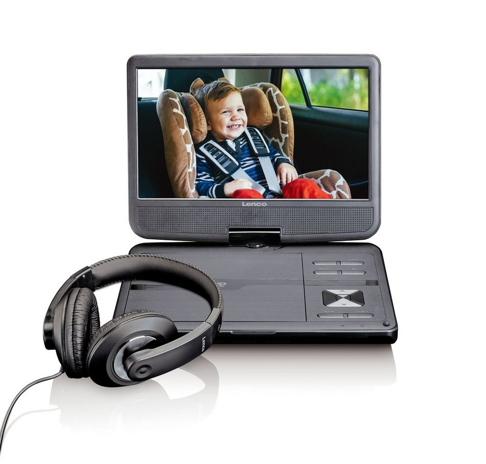 lenco tragbarer 10 dvd player mit usb dvp 1010bk online. Black Bedroom Furniture Sets. Home Design Ideas