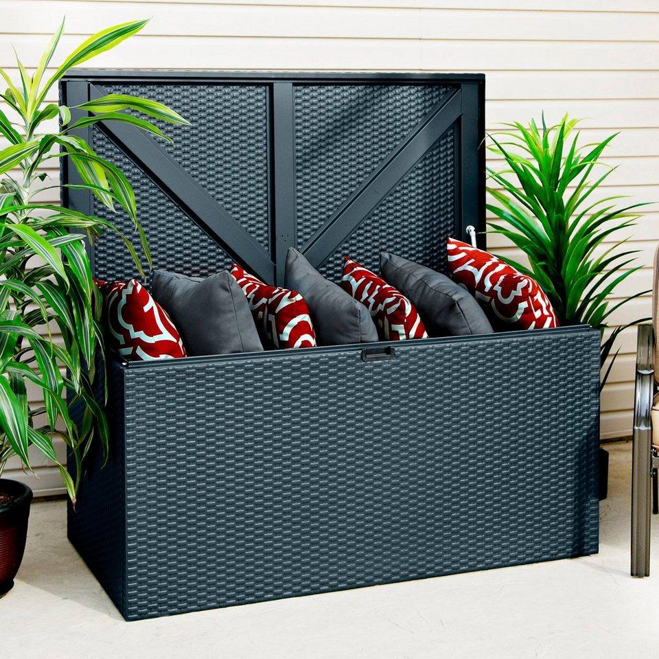auflagenbox linz steingrau bxtxh 132x69x67 cm otto. Black Bedroom Furniture Sets. Home Design Ideas
