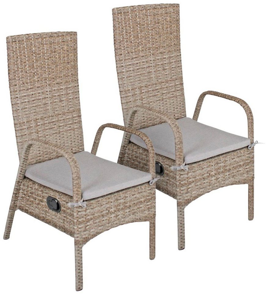 garden pleasure gartenstuhl faro polyrattan stapelbar sand inkl sitzkissen online kaufen. Black Bedroom Furniture Sets. Home Design Ideas
