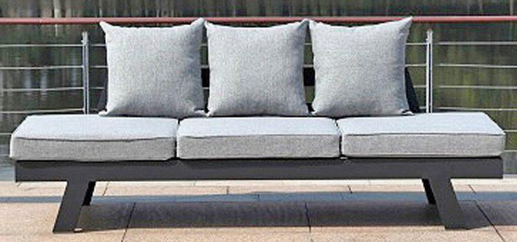 GARDEN PLEASURE Loungesofa »DONNA«, 7-tlg., Aluminium, anthrazit, inkl. Auflagen und Kissen