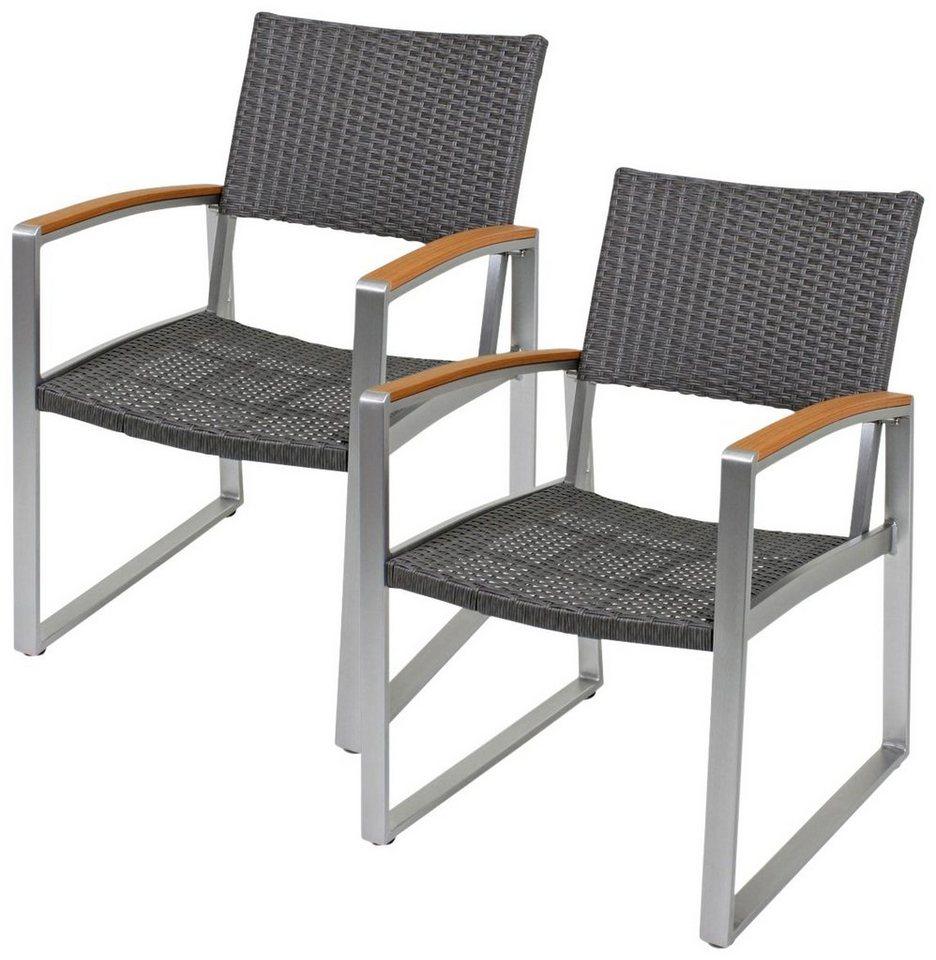 gartenst hle polyrattan grau vd57 kyushucon. Black Bedroom Furniture Sets. Home Design Ideas