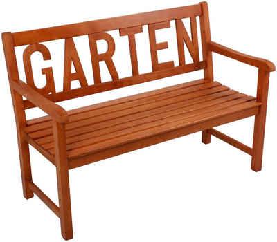 GARDEN PLEASURE Gartenbank »INDIO«, Eukalyptus, 130x91x63 Cm, Braun