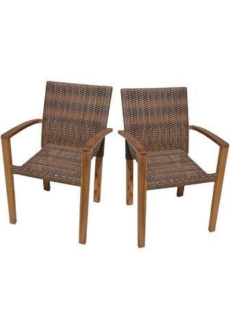 GARDEN PLEASURE Poilsio kėdė »TOPEKA« (2 vnt. rinkinys...