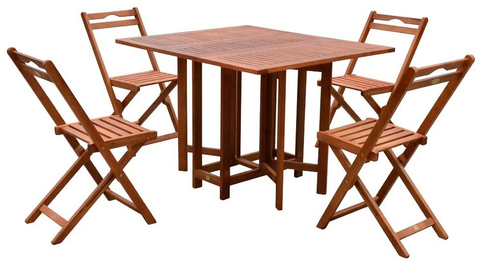 GARDEN PLEASURE Gartenmöbelset »MONTEREY«, 5-tlg., 4 Stühle, Tisch ...