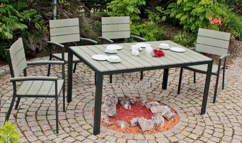 Garden Pleasure Gartenmöbelset Olivia 5 Tlg 4 Stühle Tisch