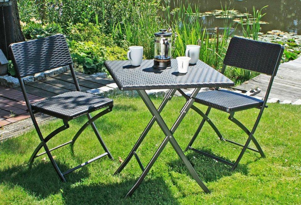 GARDEN PLEASURE Gartenmöbelset »VENTANA«, 3-tlg., 2 Stühle, Tisch ...