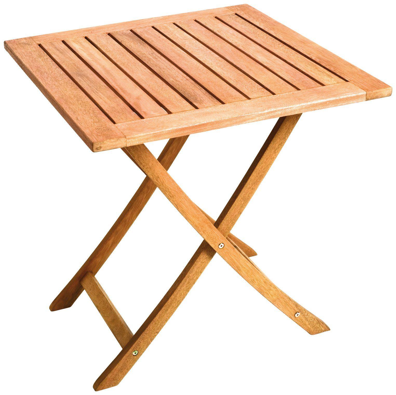 MERXX Gartentisch , Eukalyptus, klappbar, 70x70 cm, braun