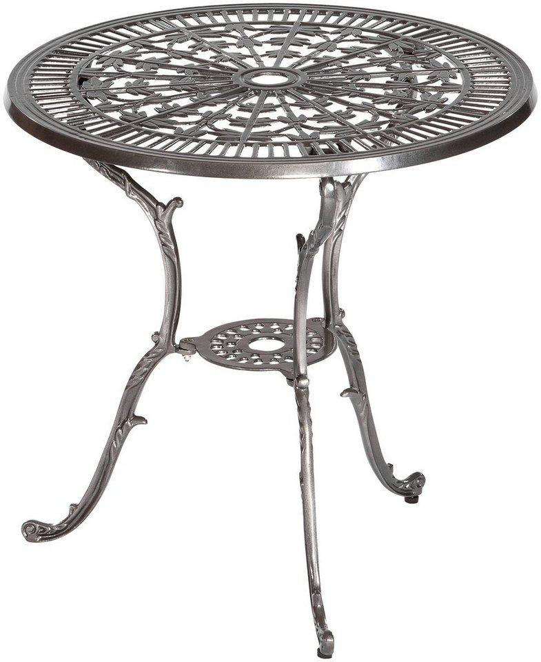 Merxx gartentisch lugano aluminium 70 cm graphit for Gartentisch aluminium