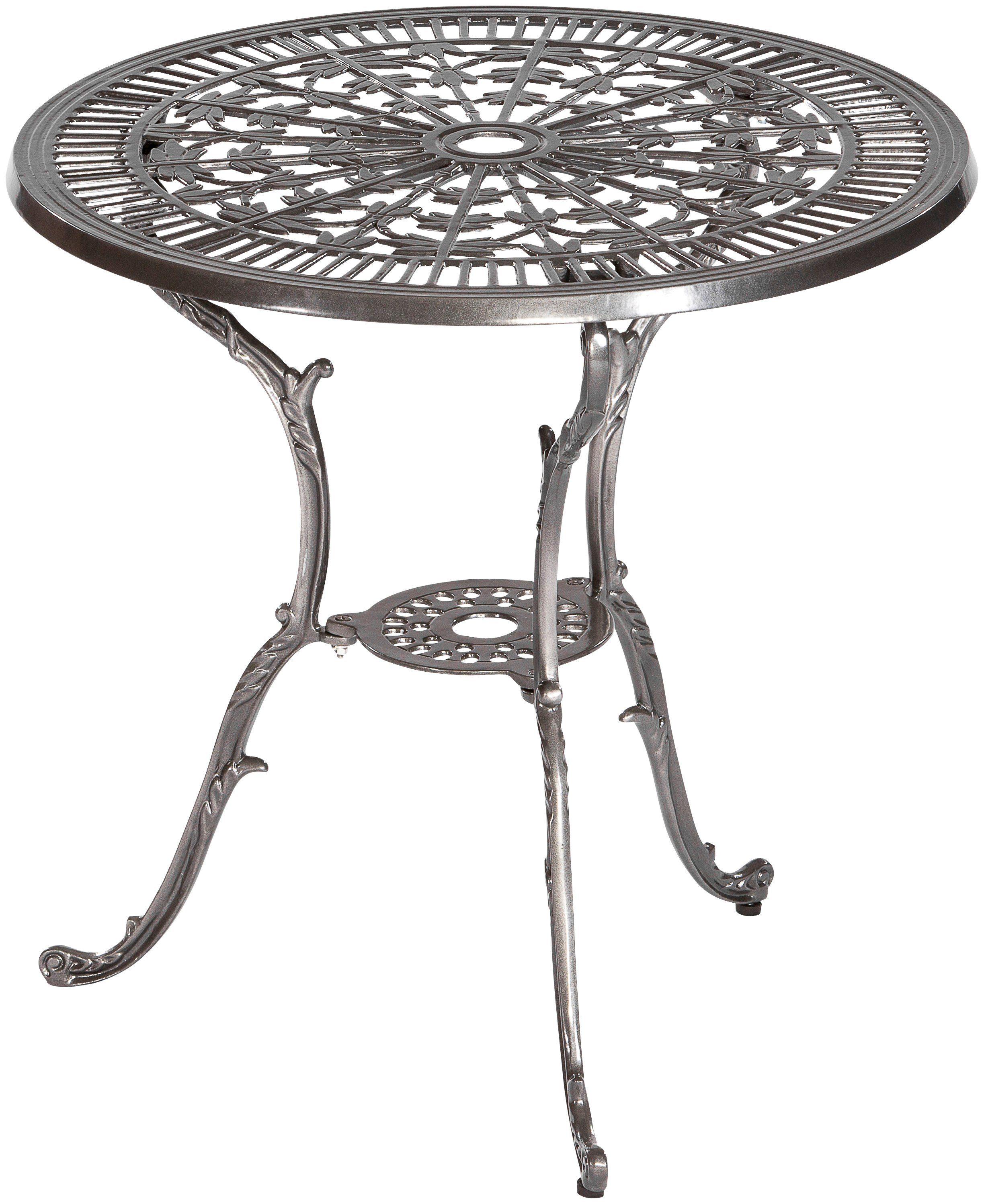 MERXX Gartentisch »Lugano«, Aluminium, Ø 70 cm, graphit