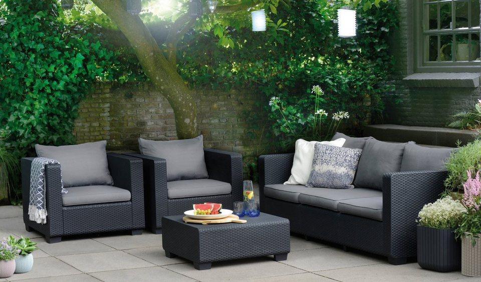 Best Loungeset Burano 14 Tlg 3er Sofa 2 Sessel Tisch 70x70 Cm