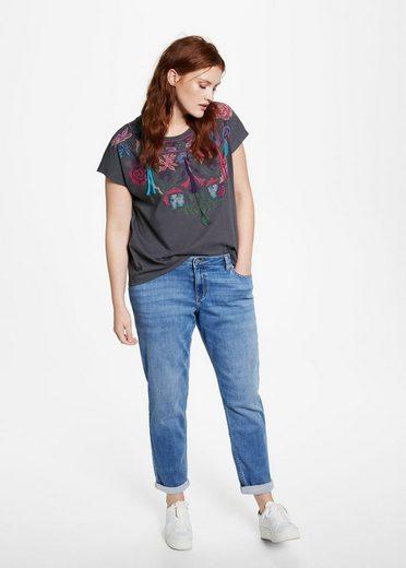 VIOLETA by Mango Baumwoll-Shirt mit Stickereien