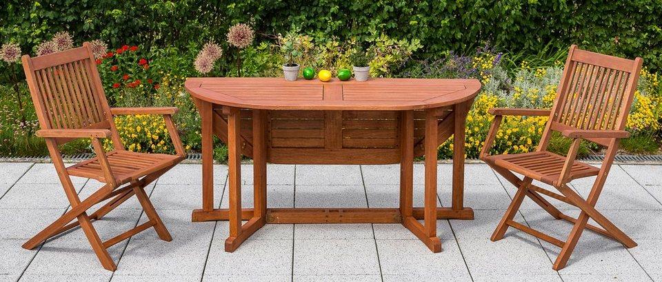 Merxx Gartentisch Eukalyptus Klappbar 150x100 Cm Braun Online