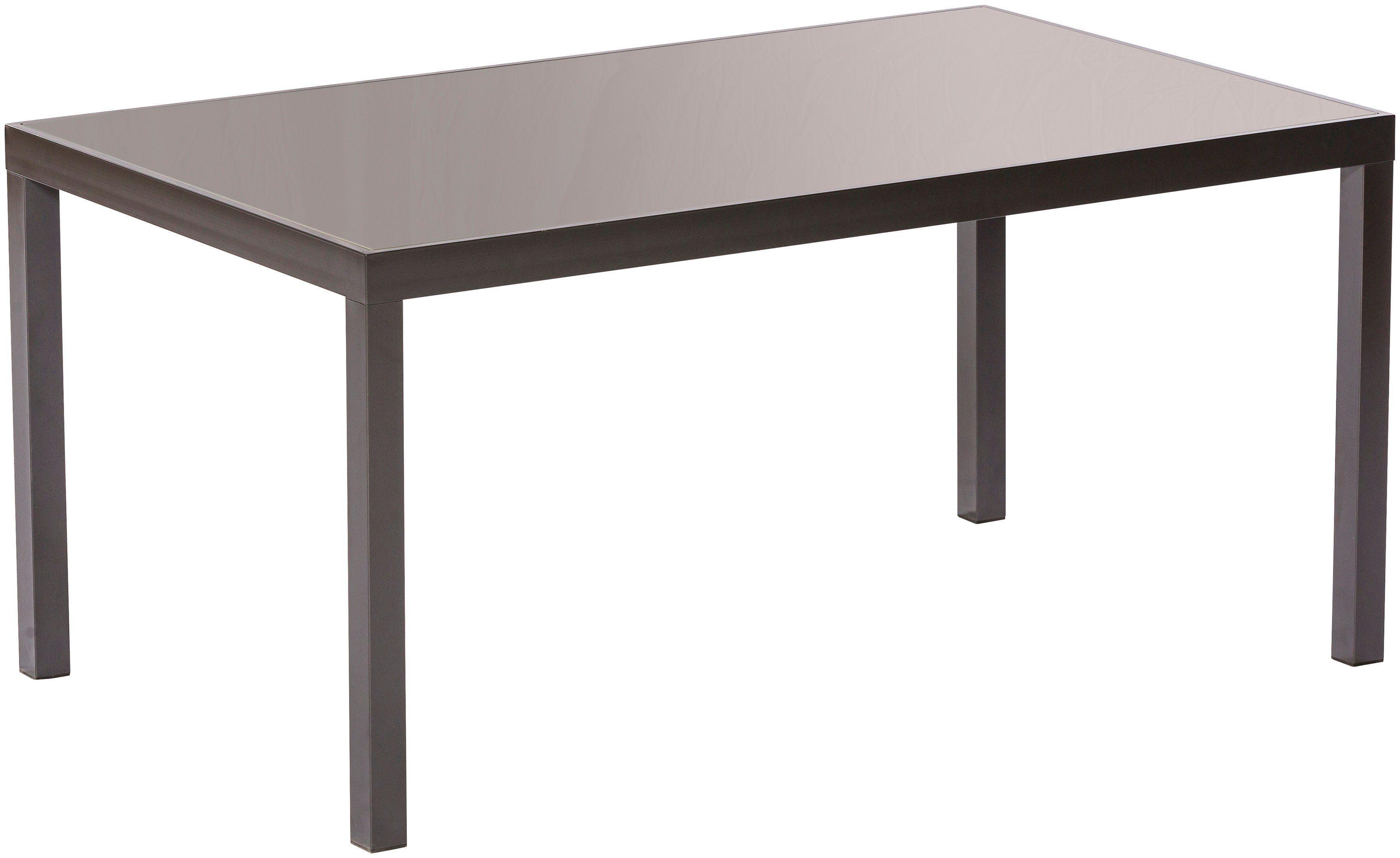 MERXX Gartentisch »Trivero Deluxe«, Aluminium, 150x90 cm, grau