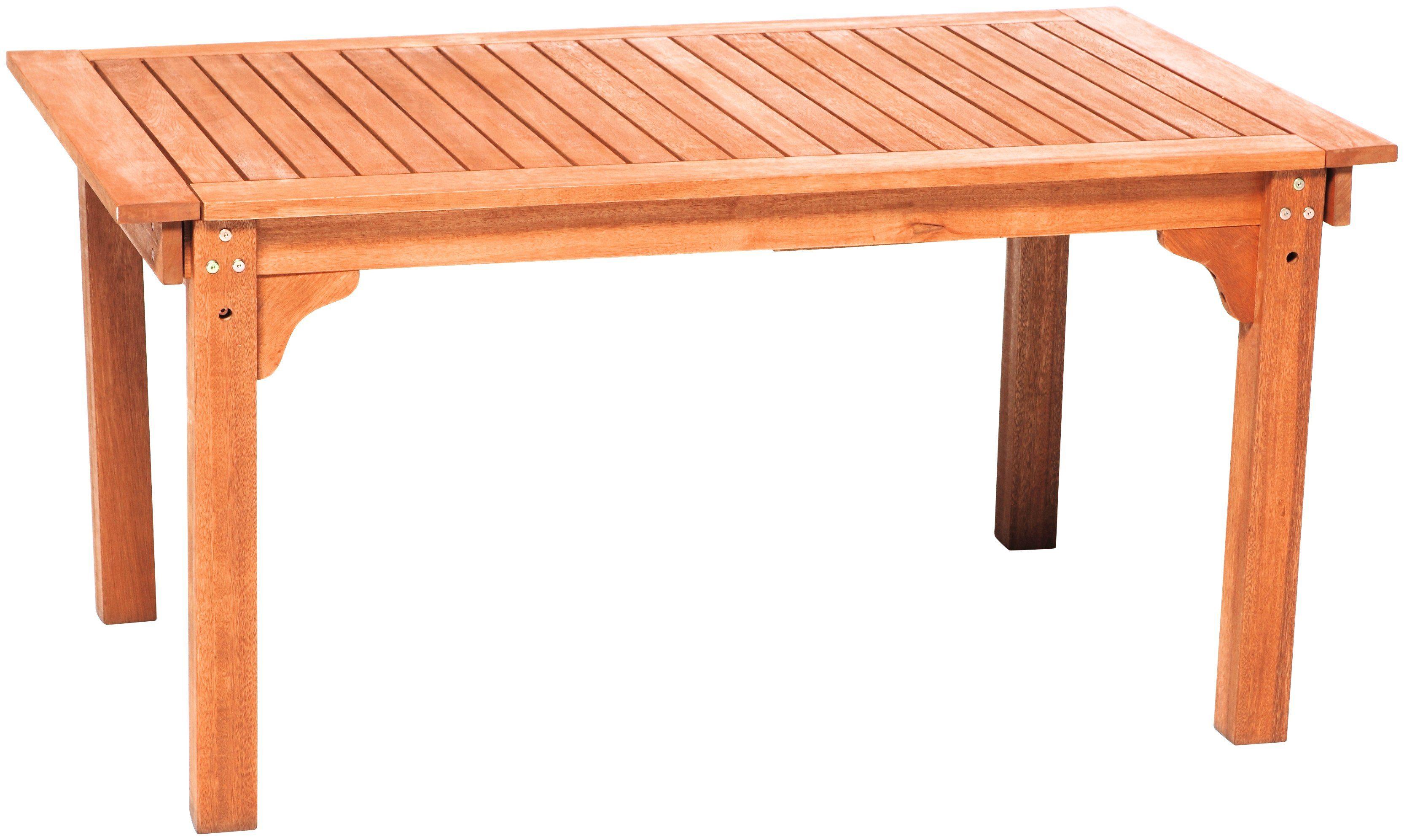 MERXX Gartentisch , Eukalyptus, ausziehbar, 220x90 cm, braun