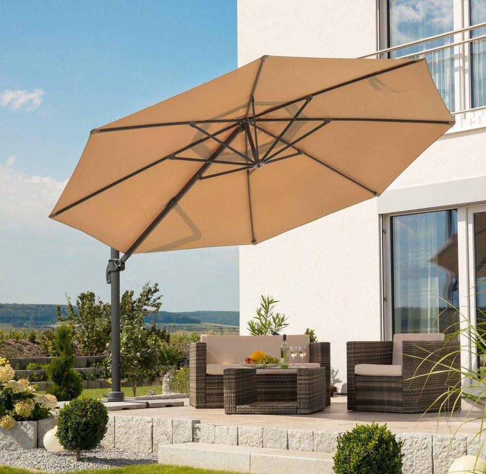 schneider schirme sonnenschirm rhodos grande 400 cm ohne wegeplatten online kaufen otto. Black Bedroom Furniture Sets. Home Design Ideas