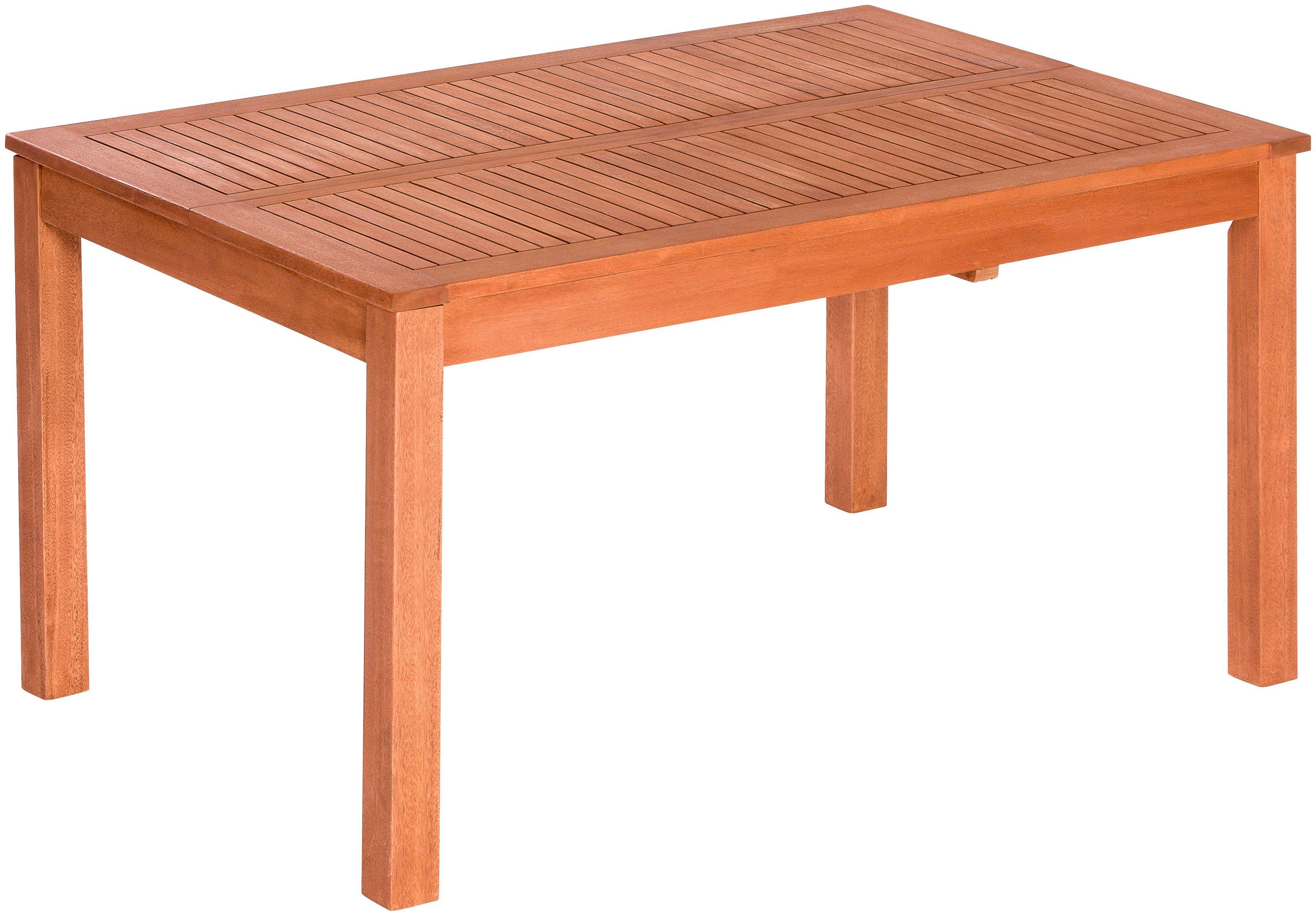 MERXX Gartentisch , Eukalyptus, ausziehbar, 150 x 150 cm, braun   Garten > Gartenmöbel > Gartentische   Akazie   MERXX