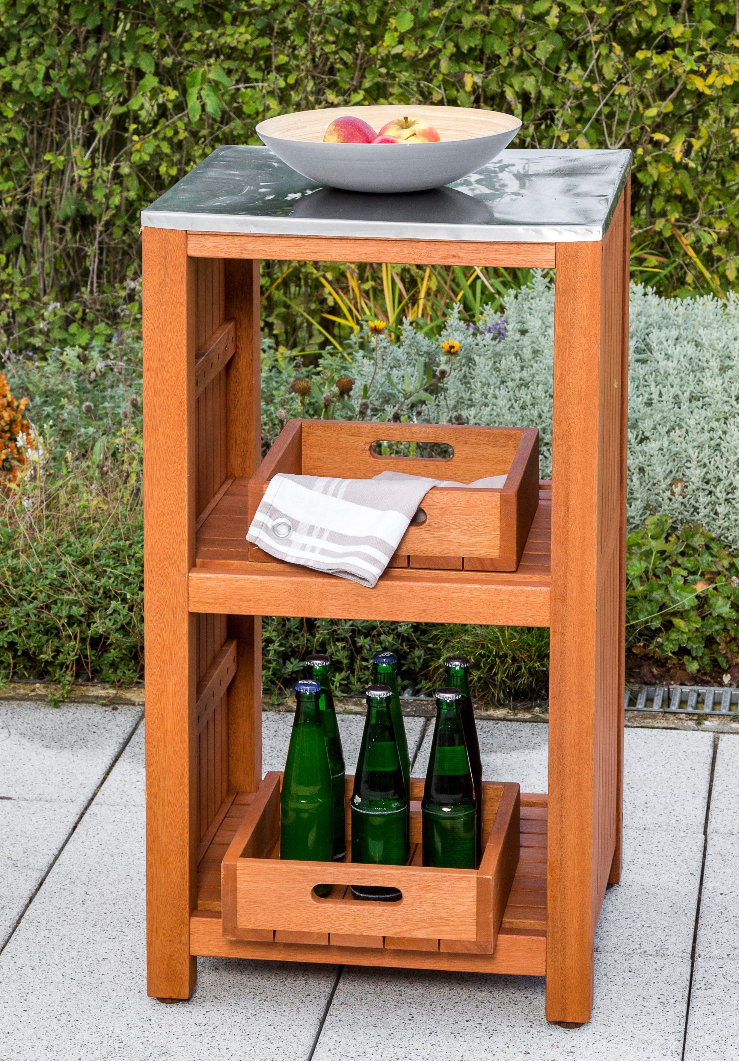 MERXX Gartentisch »Spültisch Sideboard«, Eukalyptus, 46x 56 cm, braun   Garten > Gartenmöbel > Gartentische   Akazie   MERXX