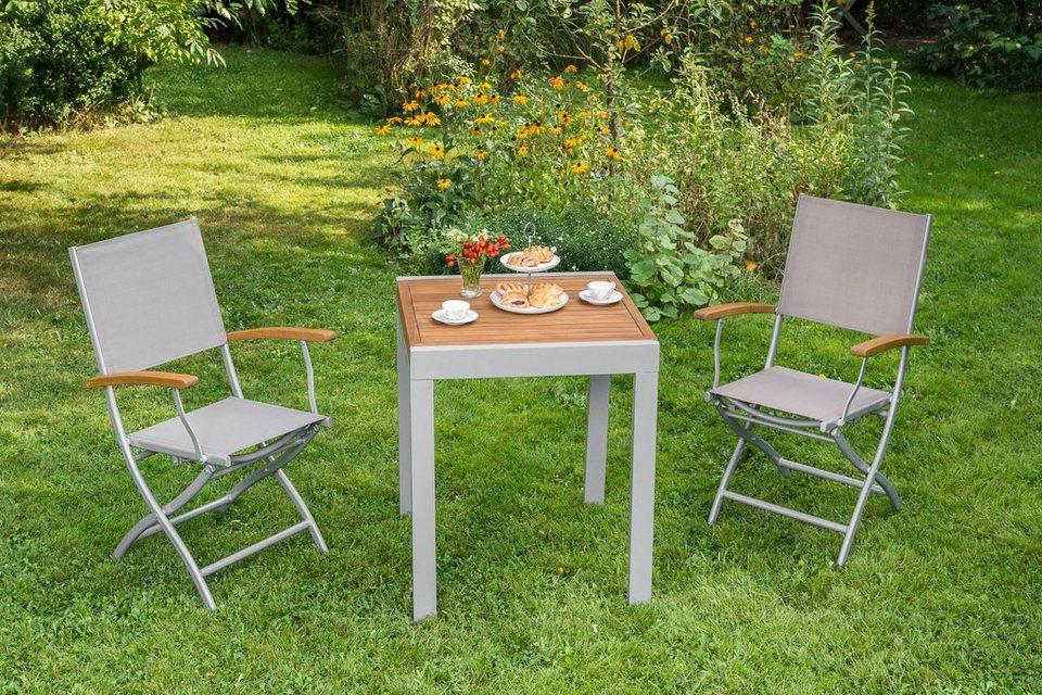 merxx gartenm belset naxos 3tlg 2 sessel tisch klappbar ausziehbar akazie online kaufen. Black Bedroom Furniture Sets. Home Design Ideas