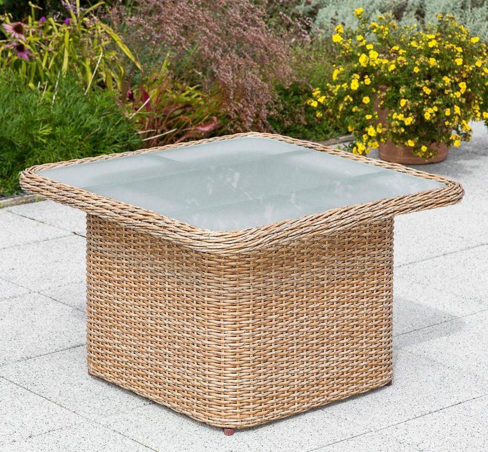 Merxx Gartentisch Duplex Tisch Polyrattan 72x72 Cm Natur Online