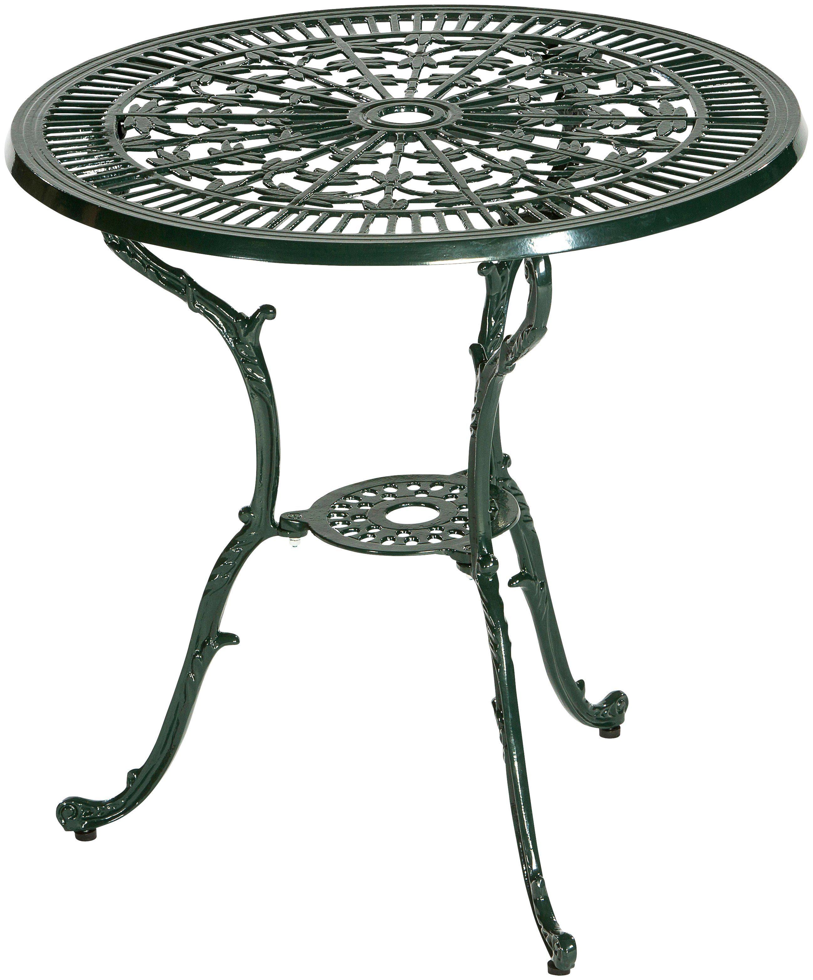 MERXX Gartentisch »Lugano«, Aluminium, Ø 70 cm, grün