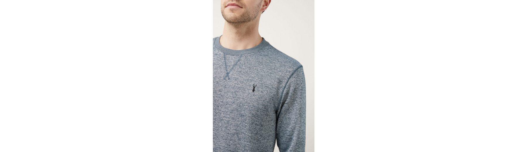 Next Sweatshirt mit Rundhalsausschnitt, meliert