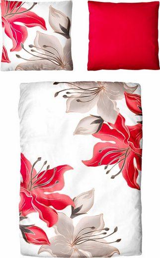 Bettwäsche »Madame«, Auro Hometextile, mit plakativen Blumen versehen