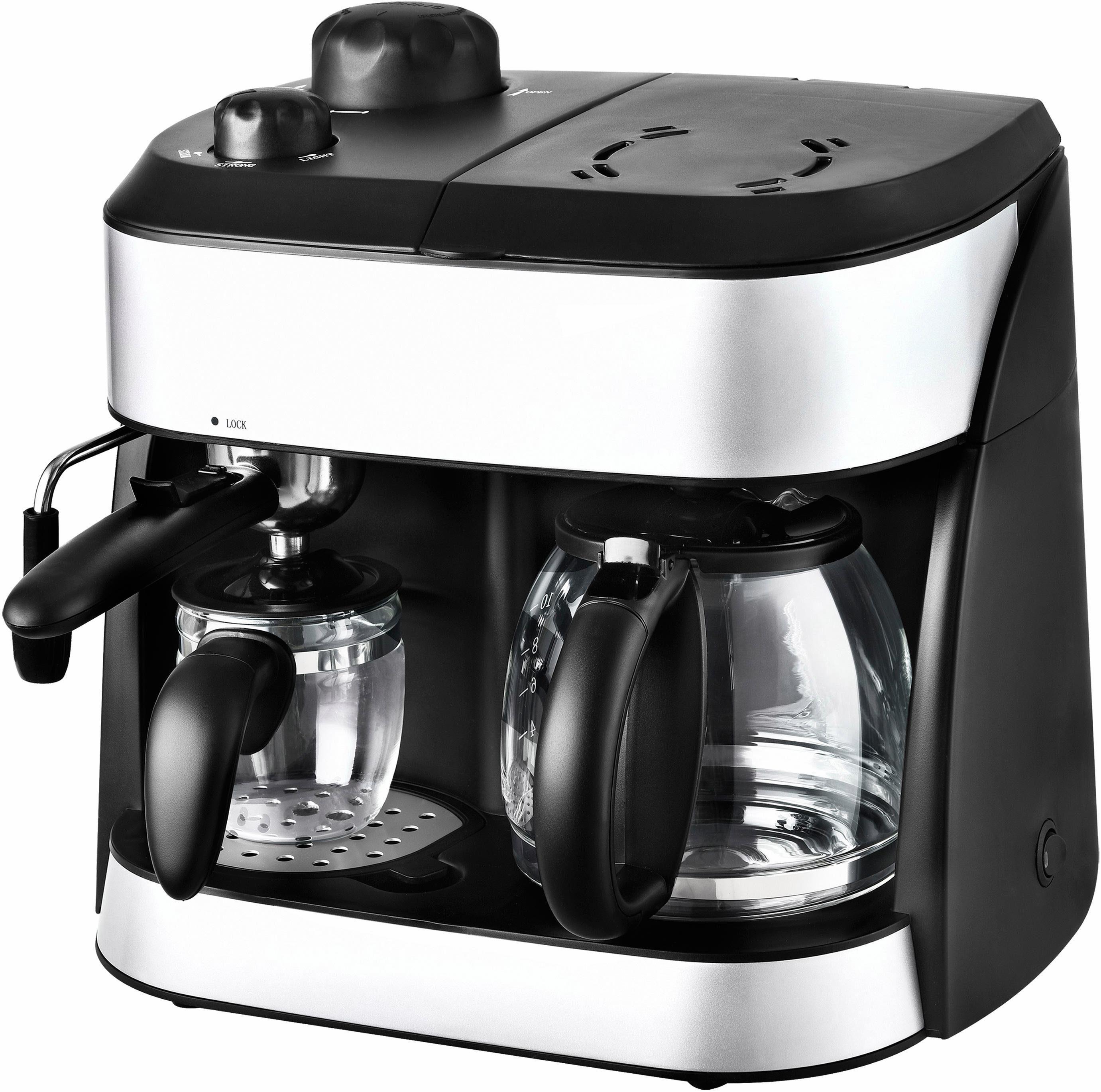 Team Kalorik Espressomaschine TKG EXP 1001 C, Permanentfilter