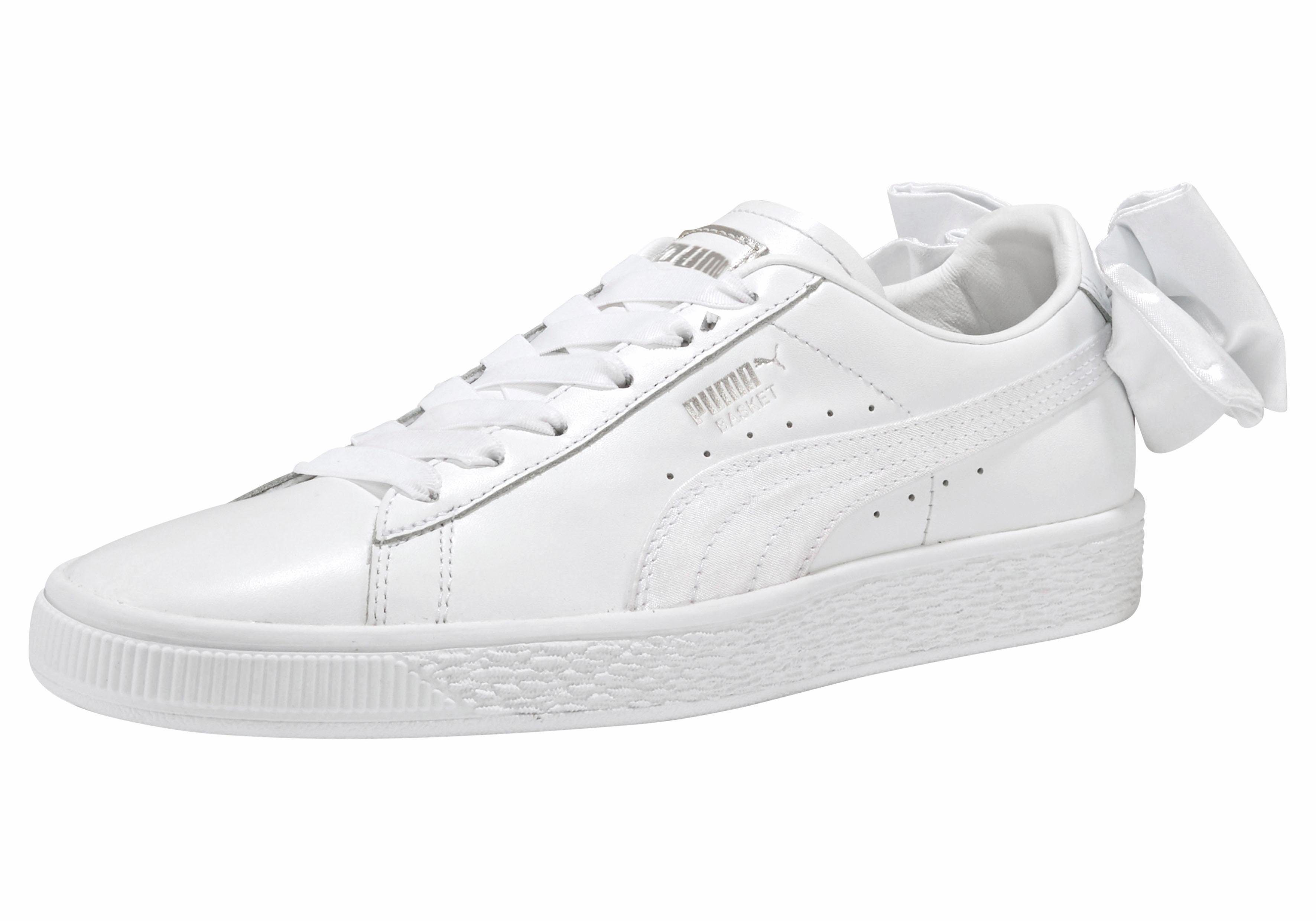 PUMA Basket Bow Sneakers, weißrosa
