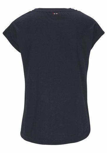 Napapijri Print-Shirt, mit glänzendem Folienprint