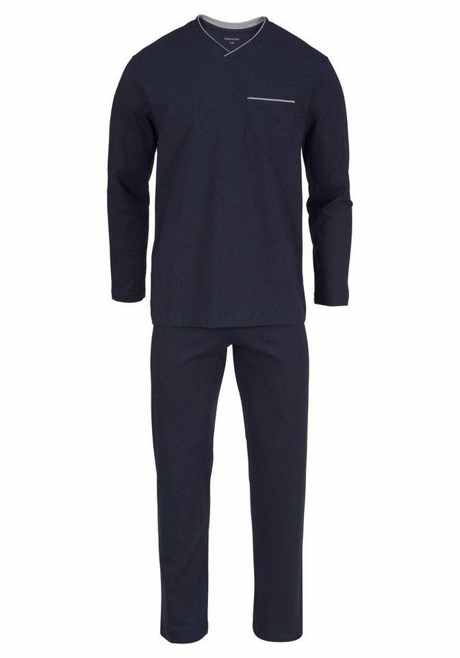 seidensticker Pyjama lang mit V-Ausschnitt kaufen  835c89a48d8b7
