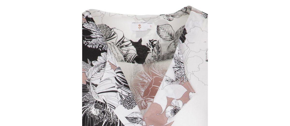 seidensticker Shirtbluse Schwarze Rose, V-Ausschnitt