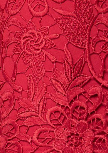 s.Oliver BLACK LABEL Bleistiftrock aus Crochet-Spitze