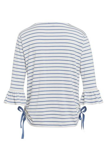 MORE&MORE Streifen-Shirt, grau/marine