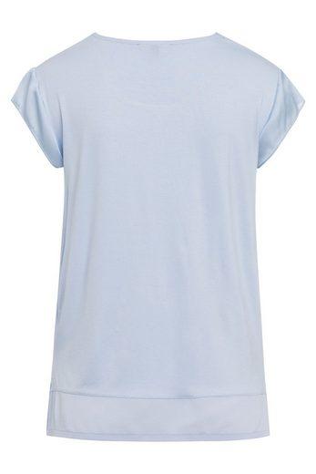 MORE&MORE Shirt, Satinfront, grau