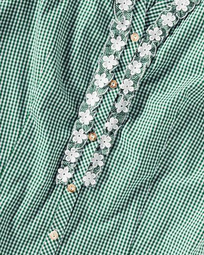 Almsach Vichybluse mit Spitze