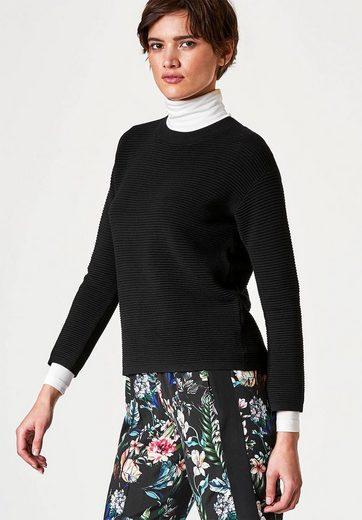 HALLHUBER Pullover mit markanter Querrippe