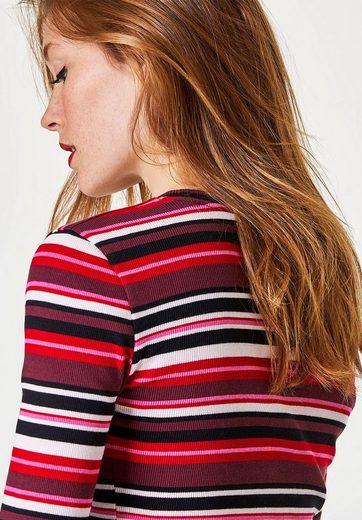 HALLHUBER Streifen-T-Shirt mit Rippenstruktur