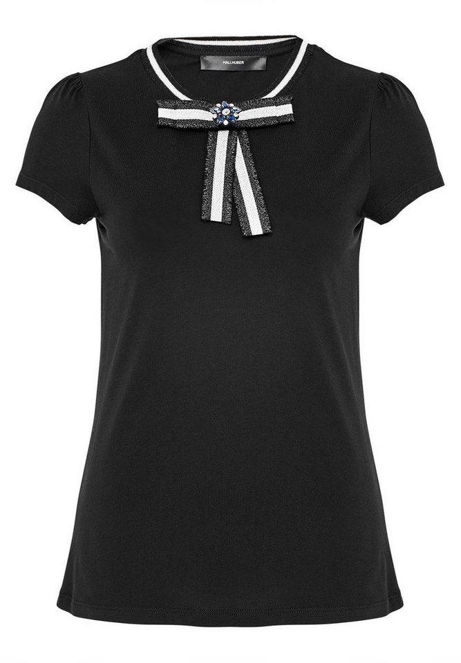hallhuber t shirt mit schleife und strass stern otto. Black Bedroom Furniture Sets. Home Design Ideas