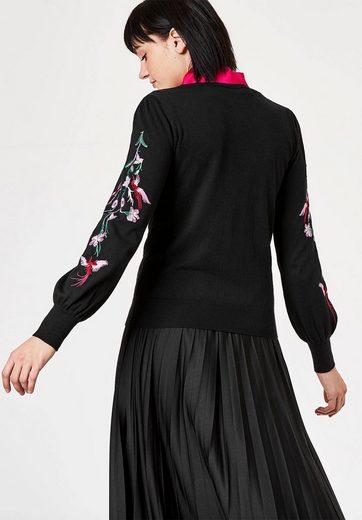 HALLHUBER Bestickter Pullover mit Glockenärmeln