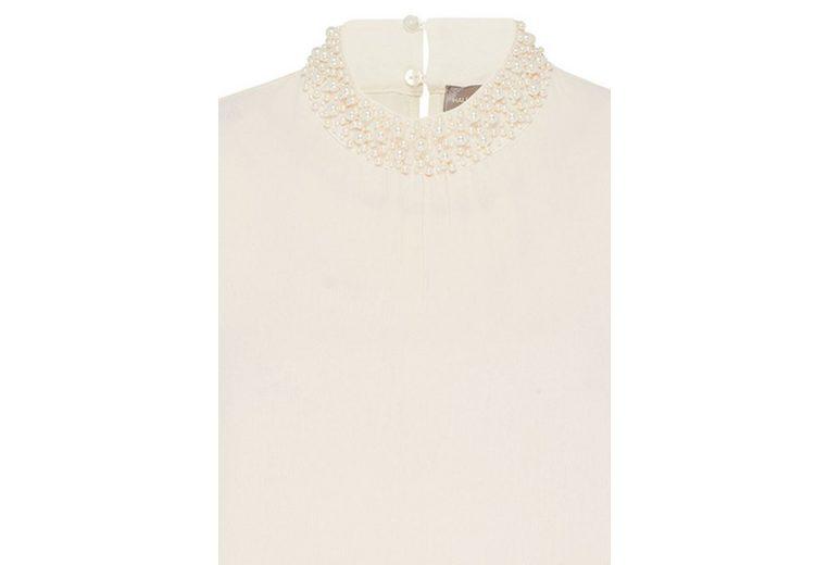HALLHUBER Borkenkrepp-Bluse mit Perlenstickerei Rabattgutscheine Online Insbesondere Rabatt Schnelle Lieferung Spielraum Erschwinglich hRXWQxuA
