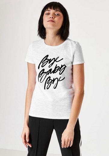HALLHUBER T-Shirt mit Flockprint-Statement