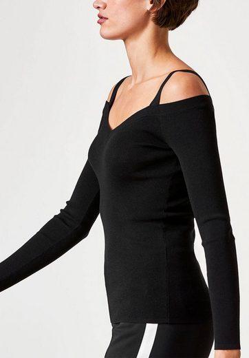 HALLHUBER Cold-Shoulder-Pullover mit Schulterbändern