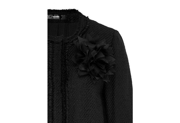 HALLHUBER Bouclé-Mantel mit Blütenbrosche Shop Selbst Freies Verschiffen Niedrig Versandkosten Rabatt Aus Deutschland IsSra9