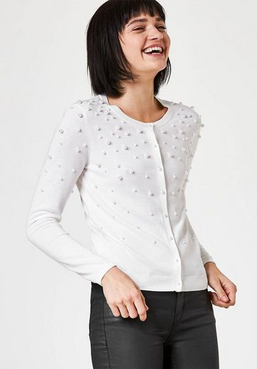 Huber Hall Cardigan With Applied Pearls