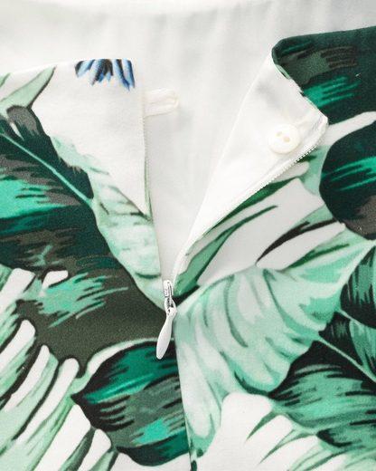 White Label Etuikleid mit Blätterdruck