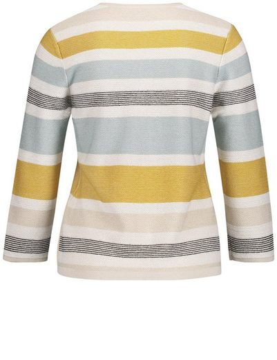 Gerry Weber Jacket Knit Sweater With Block Stripes