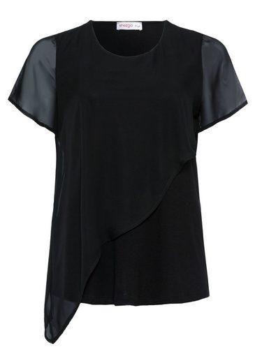 sheego Style T-Shirt, mit transparenten Ärmeln